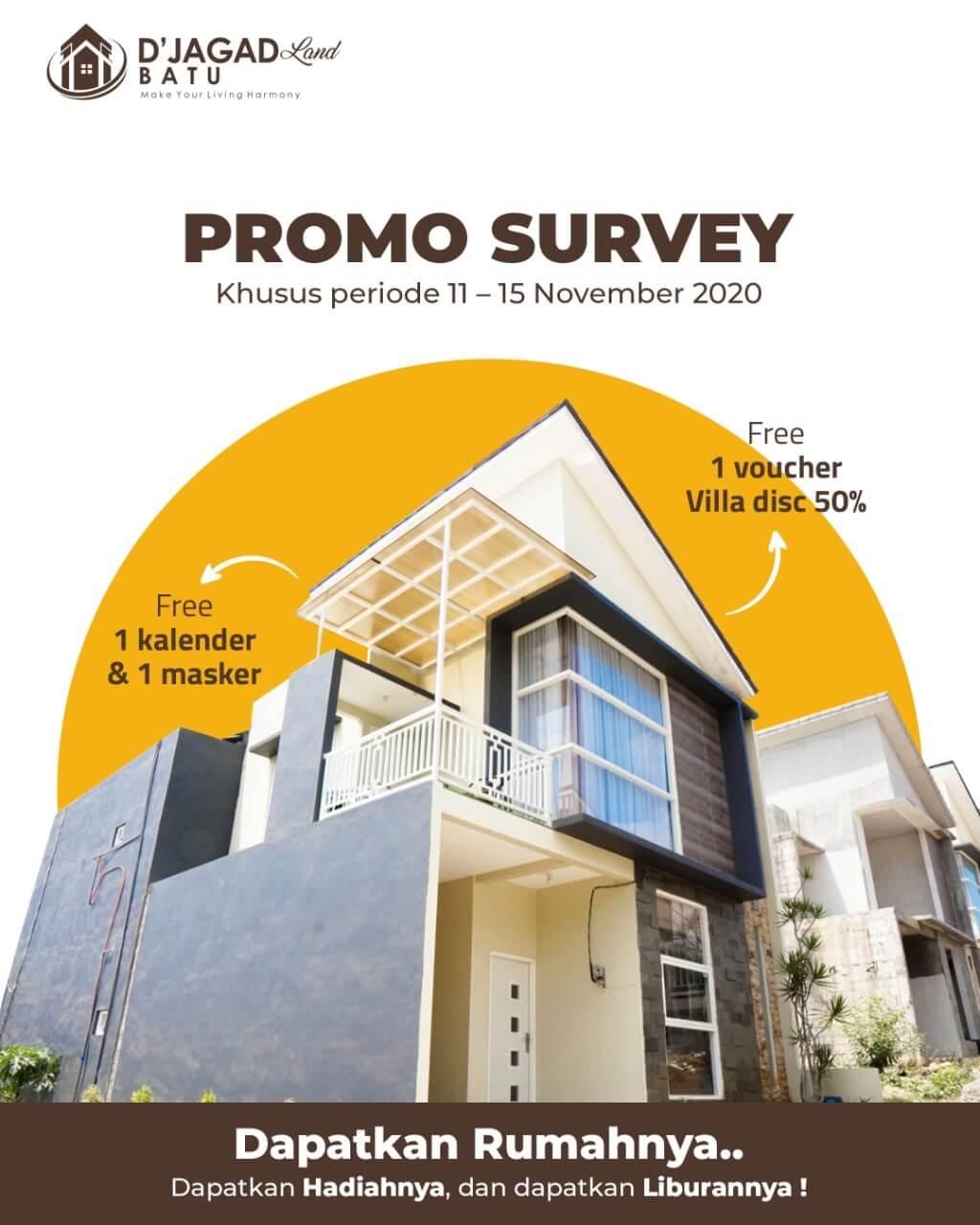 rumah syariah malang - rumah malang - rumah dijual malang - rumah dijual batu - promo survey bulan november 2020 - d'jagadland batu - davdigi