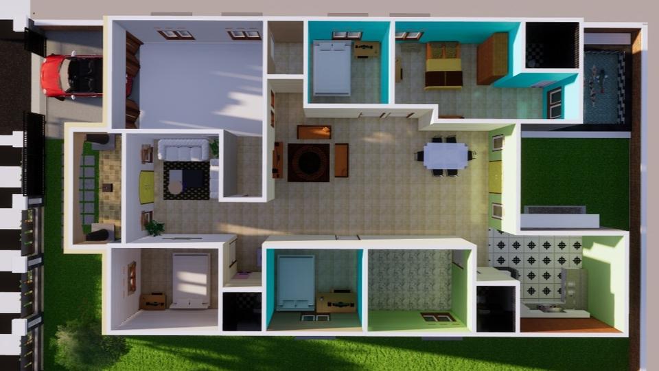 situs jual beli rumah online gratis - 3D bangunan